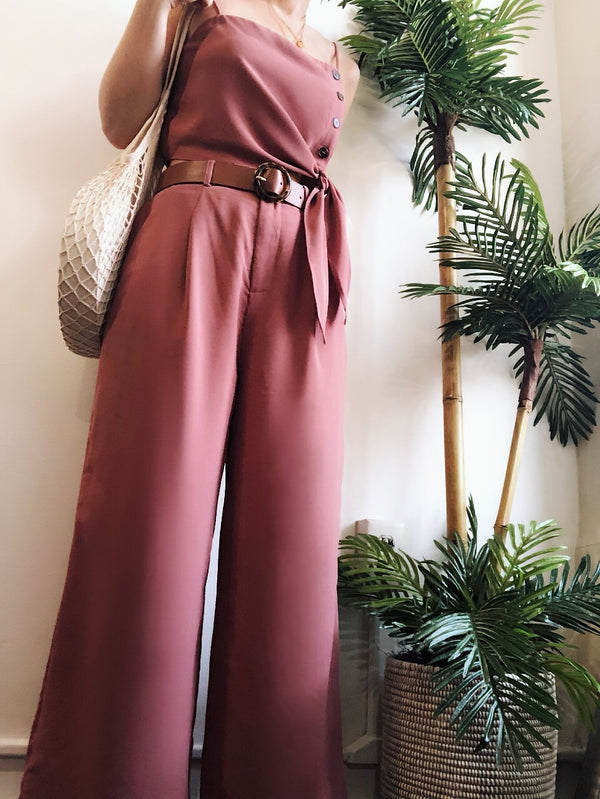 Lula Mauve Crop Top & Pant Set-SET-Skylar Rose-AMQN Boutique