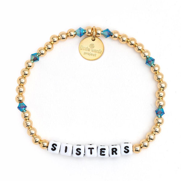 Sisters Gold-Filled & Crystal Bracelet - Little Words Project