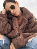 Fatima Cocoa Brown Cozy Teddy Coat - amannequin - amannequin