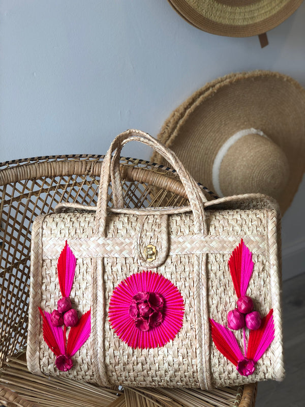 Acapulco Palm Beach Bag Tote - Pink