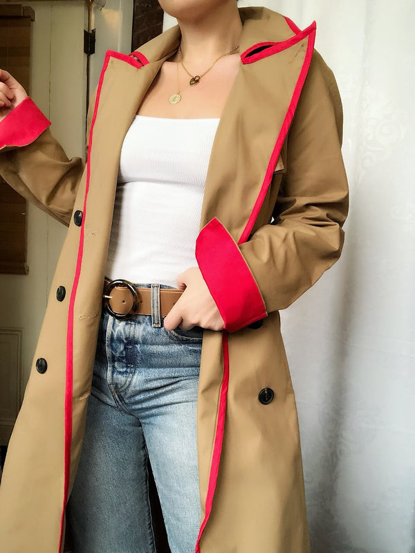 Heartbeat Classic Trench Coat Jacket by English Factory - amannequin - amannequin