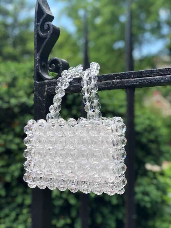 Thora Clear Beaded Bag by Street Level-Handbag-street level-AMQN Boutique