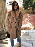 Beverly Taupe Faux Fur Teddy Coat - amannequin - amannequin