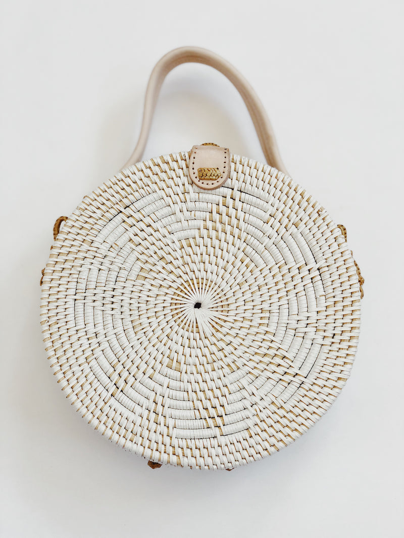 Villas Rattan Circle Crossbody Bag by Street Level - amannequin - amannequin
