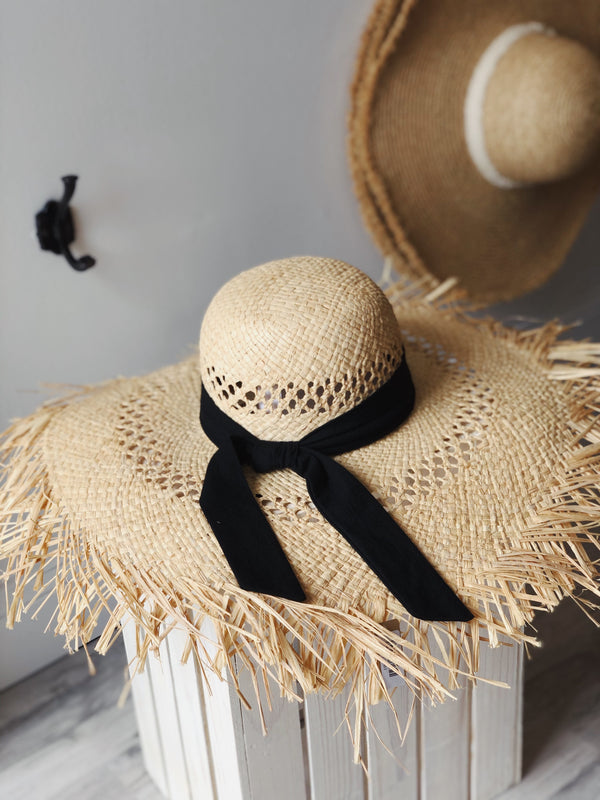 Wendy Raffia Wide Brim Hat - Natural