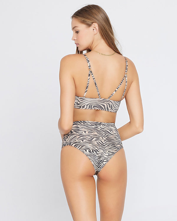 Portia Animal Instinct High Waist Bikini Bottom | L*Space