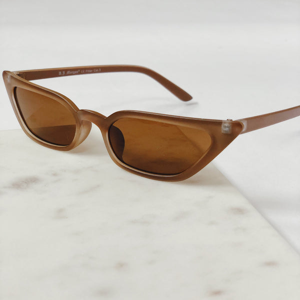 Royale Matte Brown Cat Eye Sunglasses by AJ Morgan-sunnies-aj morgan-AMQN Boutique