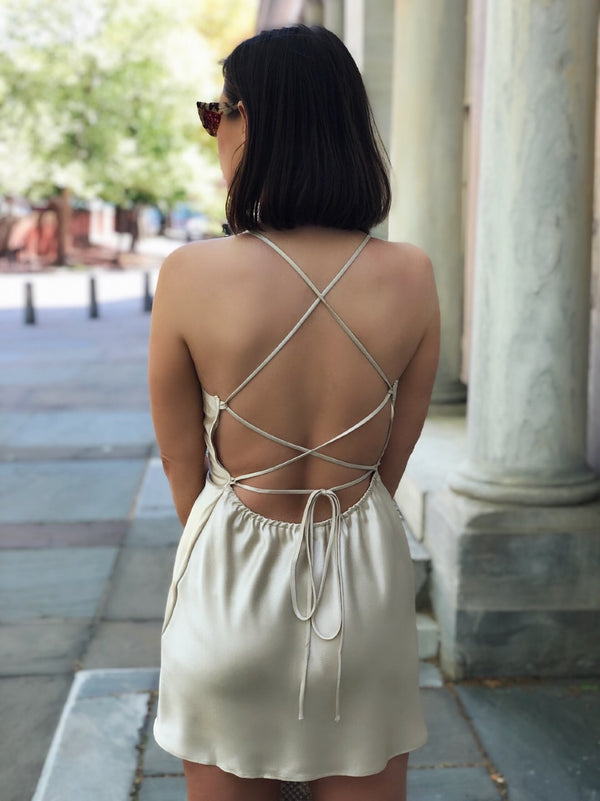 Sansa Nude Satin Open Back Dress-dress-COTTON CANDY LA-AMQN Boutique