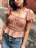 Chosen One Dusty Rose Puff Sleeve Top - amannequin - amannequin