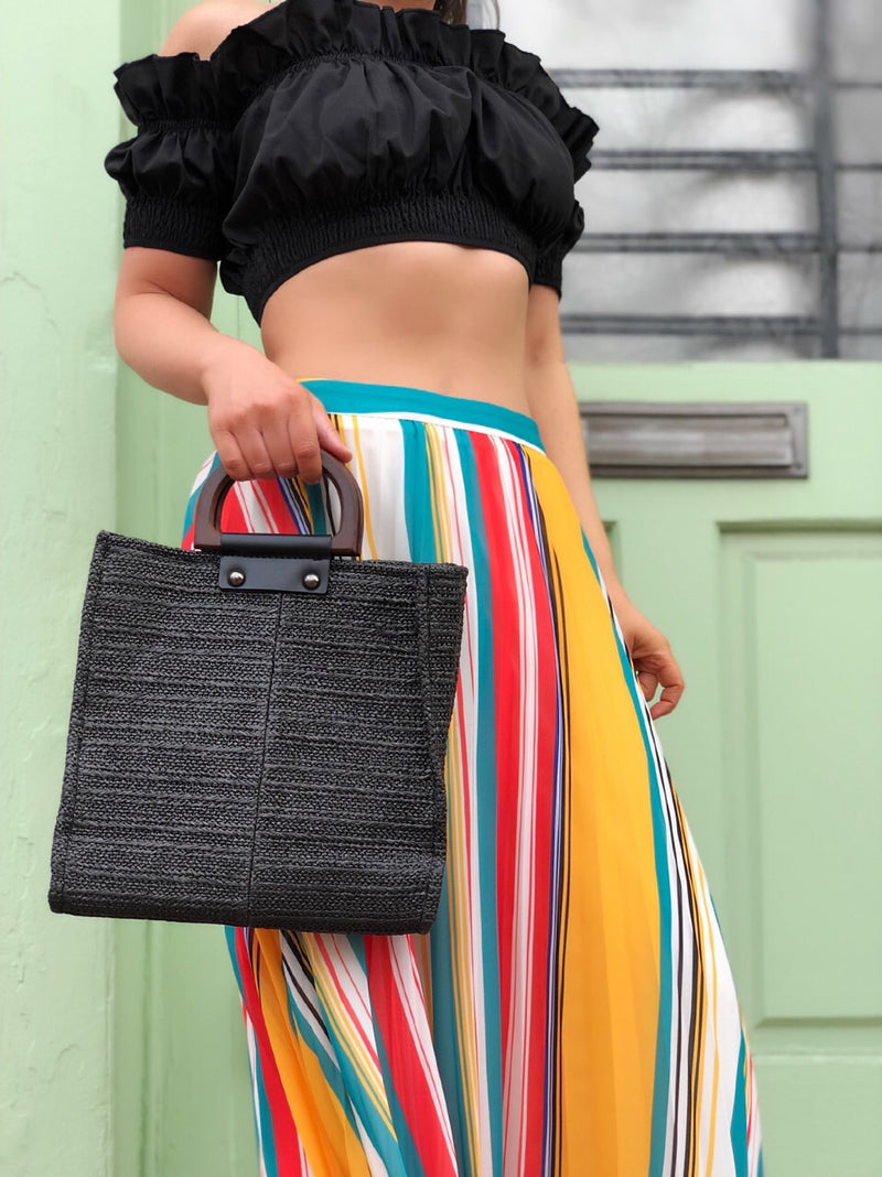 Avalon Multicolored Striped Midi Skirt - amannequin - amannequin