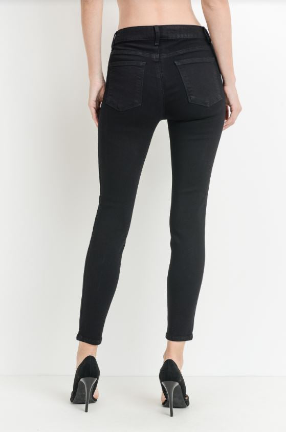 Claire High Rise  Ankle Skinny Jeans - Black