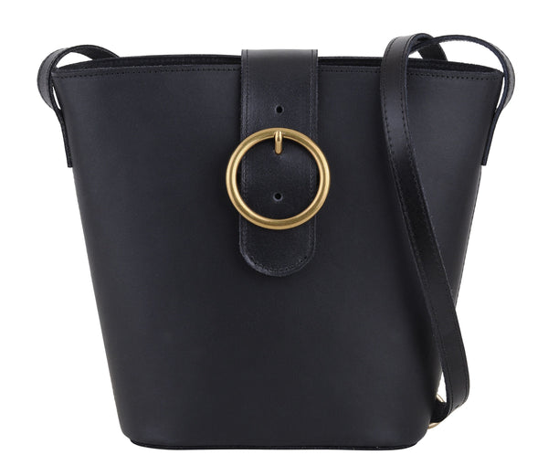 Jocelyn Leather Shoulder Bucket Bag