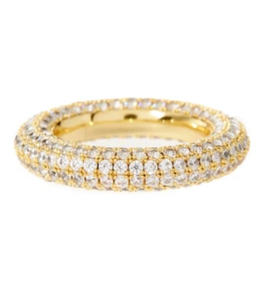 PAVE AMALFI RING - GOLD SIZE 7