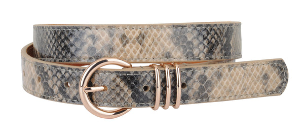 Mya Snakeskin Leather Belt