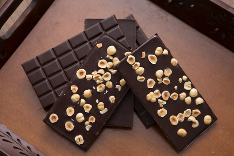 Premium Swiss Dark Chocolate Bar with Italian Hazelnuts