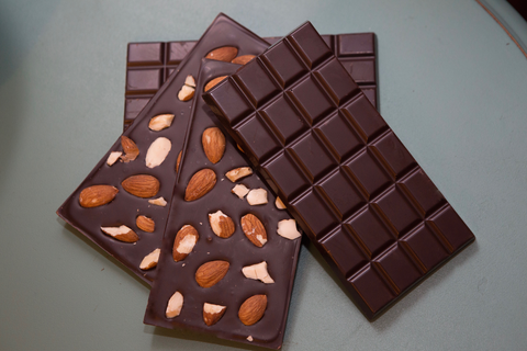 Premium Swiss Dark Chocolate Bar with California Almonds