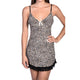 Cheetah Skin Print Slip With Contrast Lace Hem