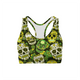 Green Sugar Skulls Sports Bra