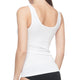 Seamless Shaping Tank Top With Lace Trim White