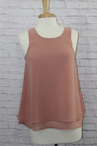 Blush tank blouse