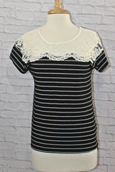 Lace, Stripes, Everything Nice Top