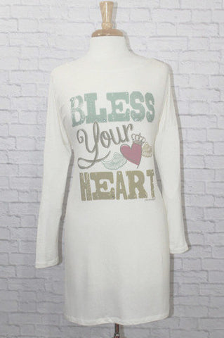 Wild Roses Boutique Bless Your Heart Women's Tunic
