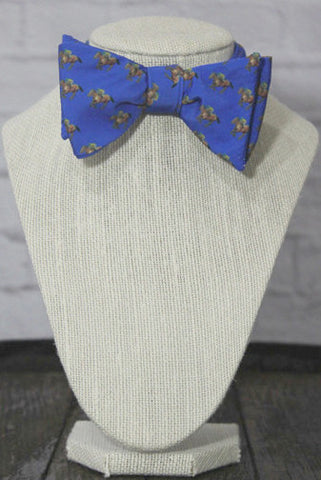 Wild Roses Boutique Men's Blue Bow Tie