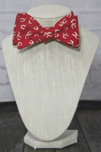 Red Kentucky Derby Men's Bow Tie