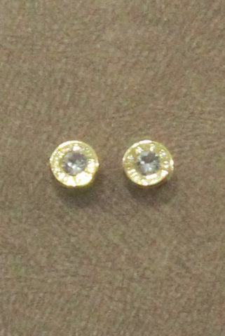 Wild Roses Boutique Gold Bullet Stud Earrings