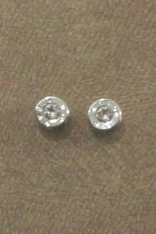 Silver Bullet Stud Earrings