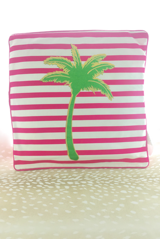 Palm tree strip pillow gift