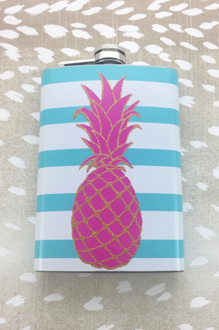 Pineapple Glitter Flask Gift