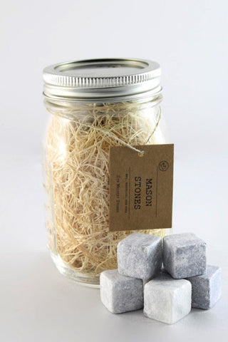 Mason Jar Whiskey Stones