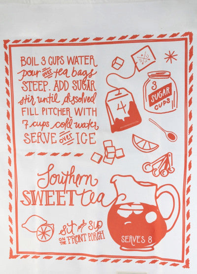 Sweet Tea Recipe Towel
