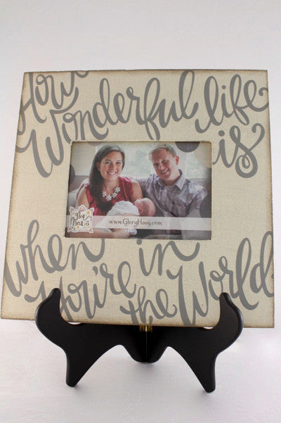 How Wonderful Picture Frame