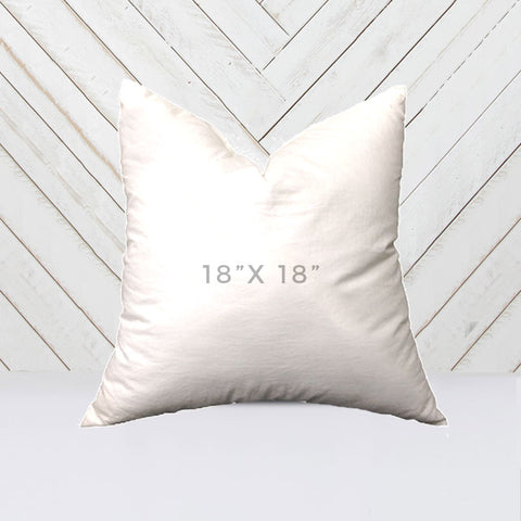 down synthetic pillow insert 18