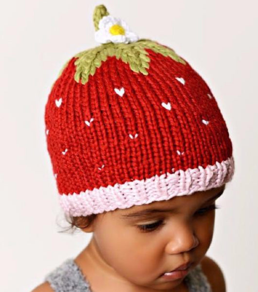 """Addie"" Strawberry Hat in Bamboo"