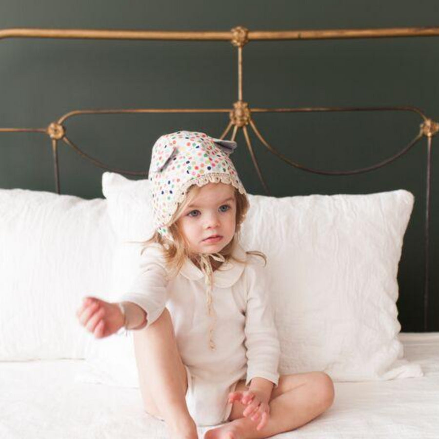 Classic Bonnet with Crochet and Ears