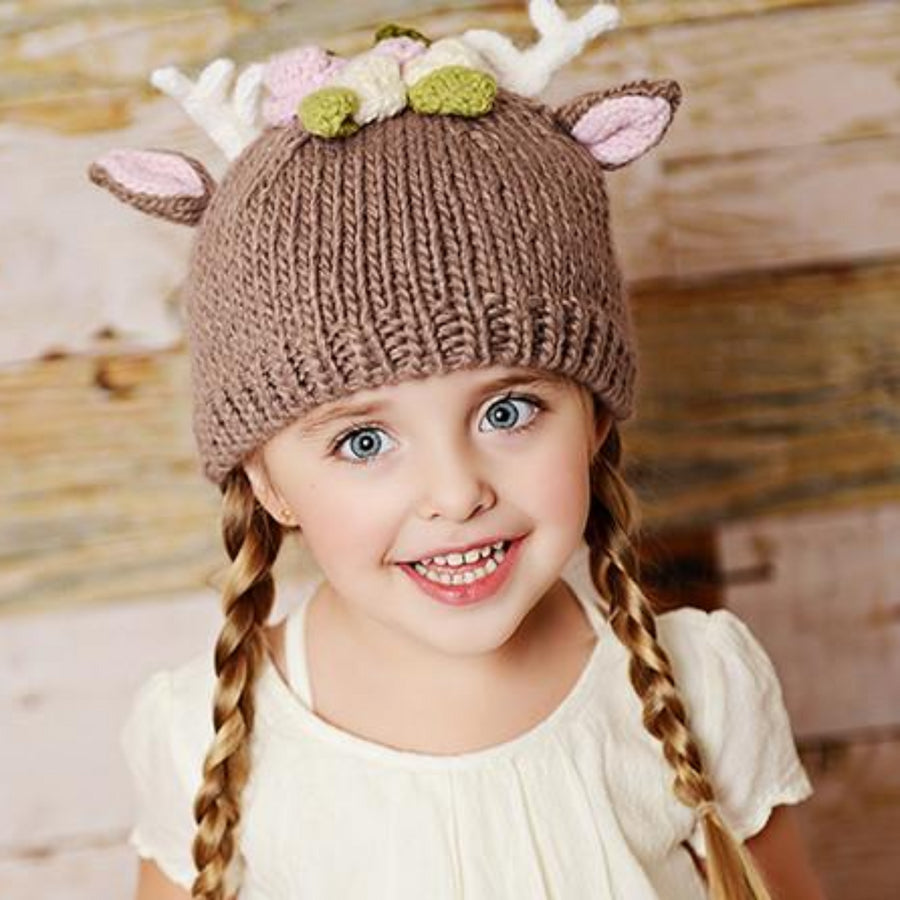 """Hartley"" Deer Hat with Flowers - The Blueberry Hill"