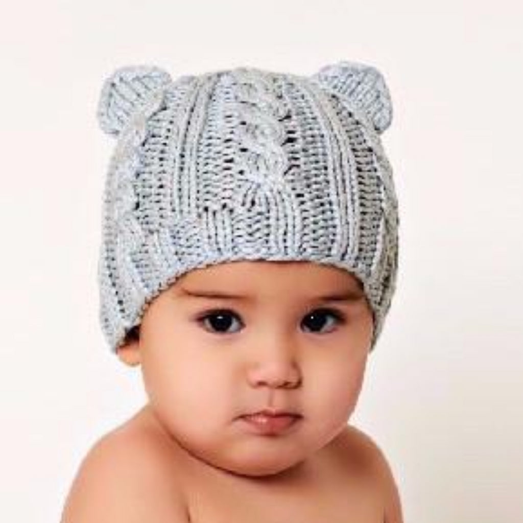 Bamboo Julian Cable Bear Knit Hat