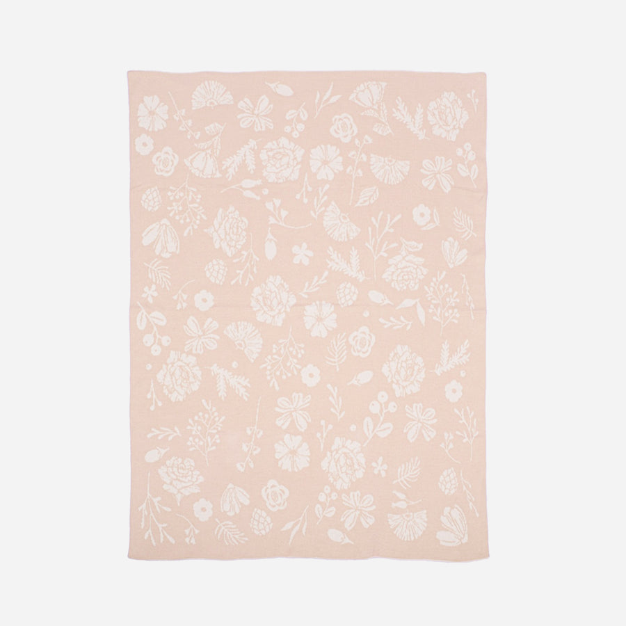 Organic Cotton Blanket Floral