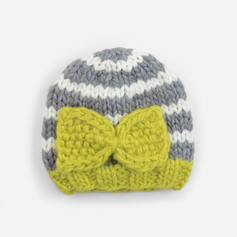 Hattie Bow and Stripes Knit Hat
