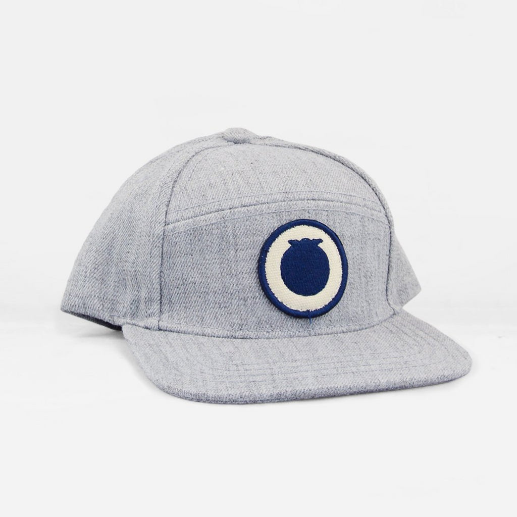 310233c3085 Grey snapback hat with Blueberry Hill logo patch. Next