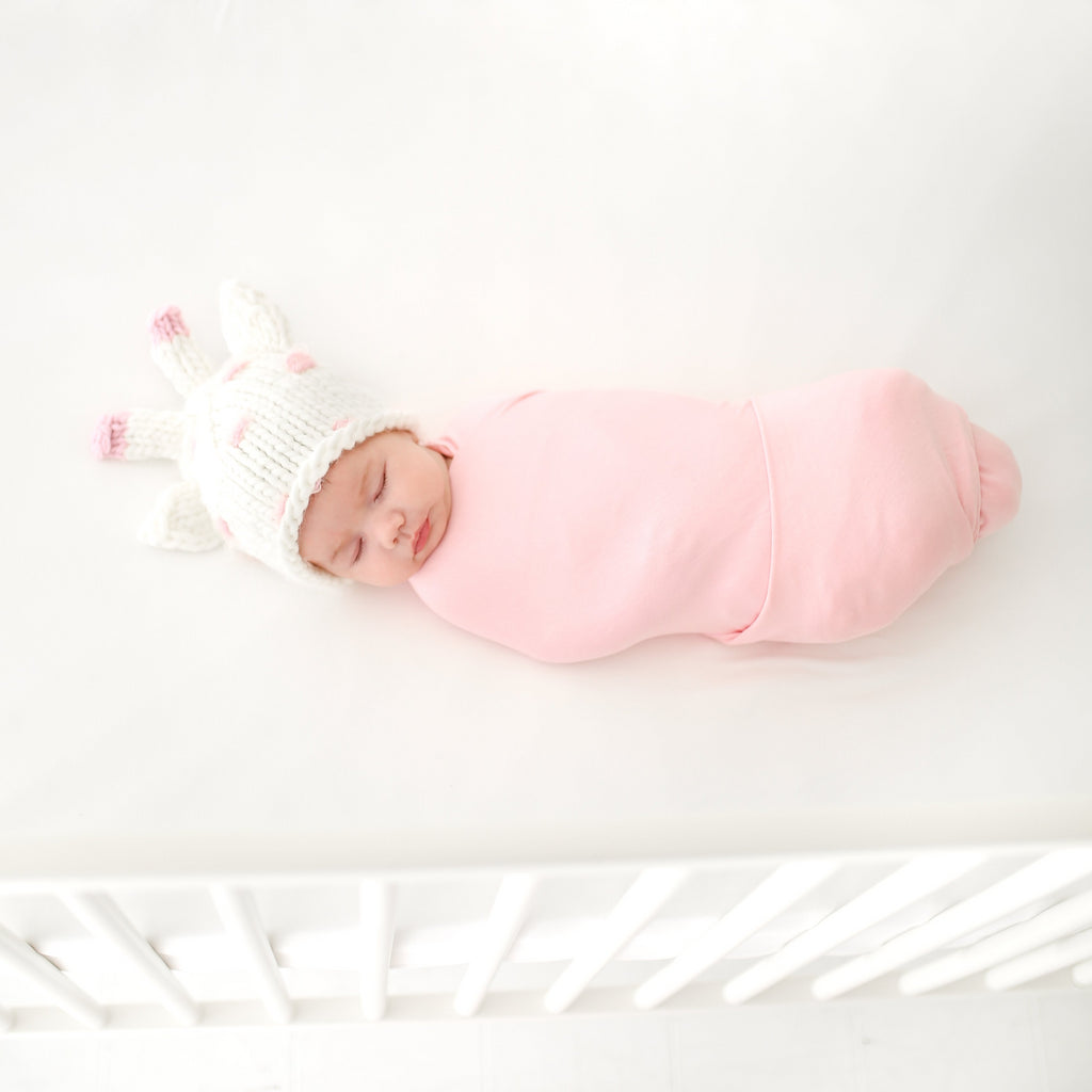 Cream and pinkgiraffe hat for baby child and photography