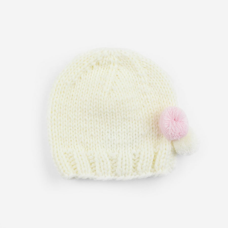 Tiny Poms Knit Hat