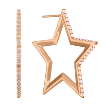 Load image into Gallery viewer, Star Hoop Earrings Immediate Delivery