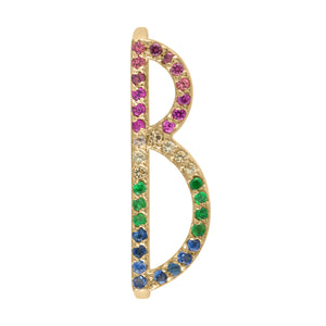 Letter Rings - Rainbow Ready to Ship