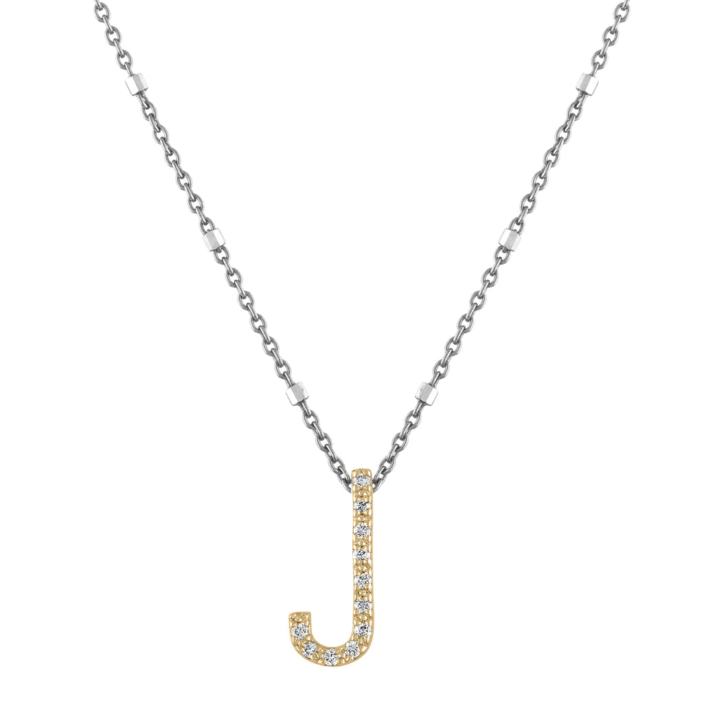 BB Diamond Initial Necklace