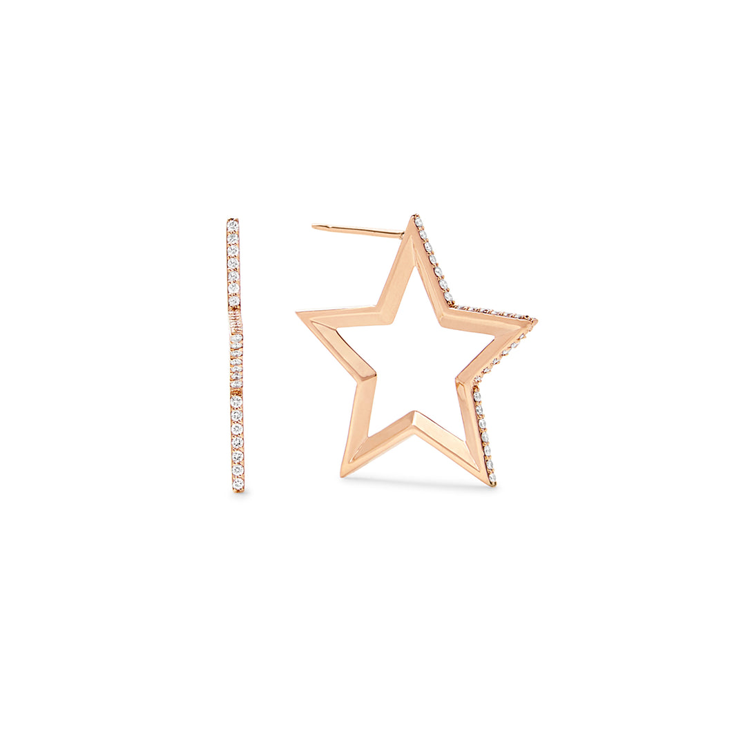 Star Hoop Earrings