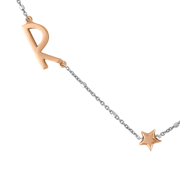 Letter with Gold Star Necklace